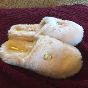 Pink Fuzzy Michael Kors Slippers